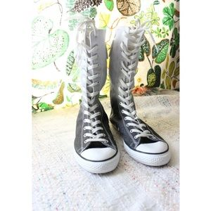 Converse Shoes - Converse Ombre Glitter High Full Lace Up Sneakers